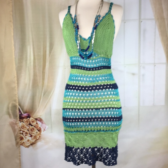Brazen Dresses & Skirts - Brazen Sexy Crocheted Summer Dress